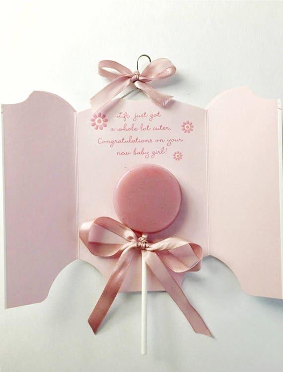 Pink Baby Shower Lollipop Set Coconut Cake Lollipops Pink