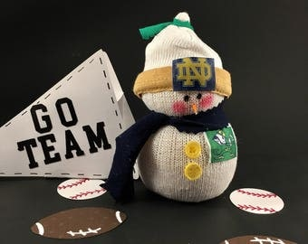 Notre Dame,Snowman,Fighting Irish,Gift for Notre Dame fan,Notre Dame jersey,Notre Dame fan gift,Gift for Fighting Irish fan,Notre Dame sport