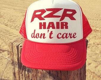 RZR Hair Don't Care Trucker Hat, Polaris RZR rzr hat rzr trucker hat off road trucker hat