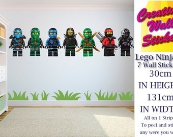 Lego Wall Stickers Kids Bedroom 7 Single Lego Ninjas Childrenu0027s Wall Decal  Mural