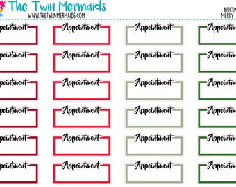 Appointment in Merry and Bright Planner Stickers