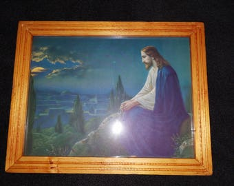 Jesus In The Garden Of Gethsemane Framed Print
