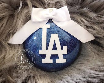 Los Angeles Dodgers Glitter Ornament