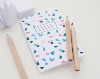 Mini A7 notebook featuring small geometric shapes