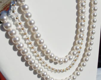 Bridal Pearls & Crystals, Swarovski® Pearls, Swarovsk®i Crystals, Gold Plate Findings or Silver Choice, Color Choices