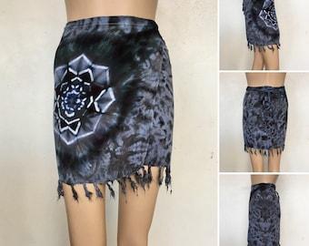 Fringe Wrap Rayon Skirt - One Size