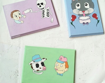 Milk man character plaque decor cry baby inspired