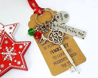 Personalised Santa's Magic Key, Hand Stamped Santa Key, Personalised Magic Key, Christmas Keepsake, Christmas Gift, Christmas Decoration