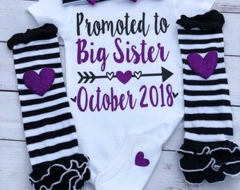 Big sister bodysuit, new baby, sibling shirt, Im a big sister, new baby arival announcement