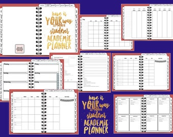 INTRO PRICE Have It Your Way 18-month Student Academic Digital Planner, Tabbed, Red