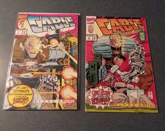 Cable #1  #2 Blood & Metal First Issue Deadpool Movie Marvel Universe
