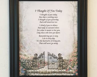 Sympathy Gift, In Memory Gift, Loss of Loved One, Loss of Friend, Frame Included, Condolence Gift, Bereavement Gift, Framed Sympathy Gifts