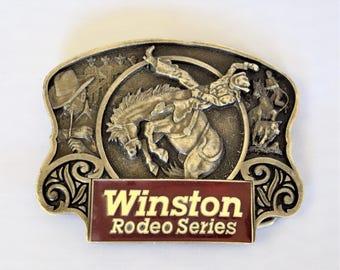Winston Rodeo series Belt Buckle / Brass Belt Buckle