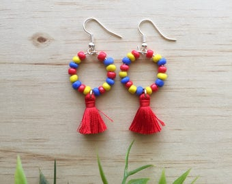 NEW Mini Tribal Dangles - gift for her, bold earrings, statement earrings, boho jewellery