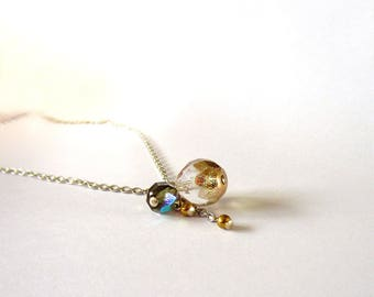 Necklace mini iridescent Golden Galaxy