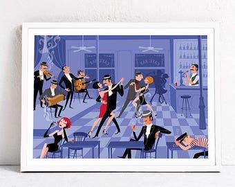 Tango Bar. Print 30x 40 cm.
