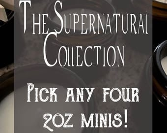Pick Four! Supernatural 2oz Mini Soy Candles