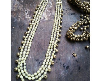 Elegant ethnic necklace with brass bells