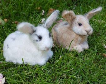 Needle felted custom made rabbits