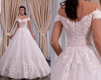 Cordelia - Couture Satin A-Line Wedding Dress