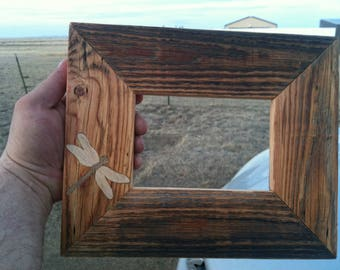Handmade Reclaimed Wood Pictute Frame