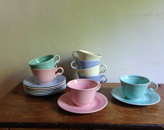 16 piece, pastel tea/coffee set