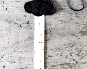 Pacifier clip with little cloud.