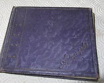 Antique Unique Autograph Album - with drawings, pictures and dedications - 1916