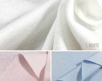 100% Mercerized Cotton Interlock Knit Fabric By The Yard (Wholesale Price Available By The Bolt) USA Made - 2460MC - 1 Yard