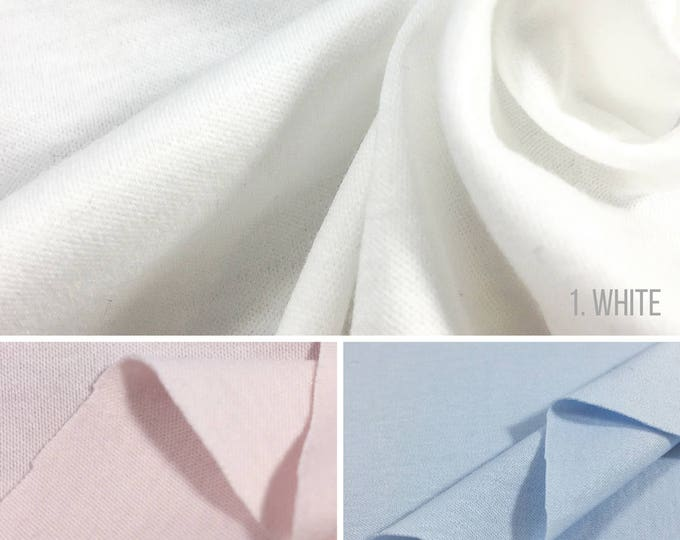 100% Cotton Interlock Knit Fabric By The Yard (Wholesale Price Available By The Bolt) USA Made - 2460 - 1 Yard
