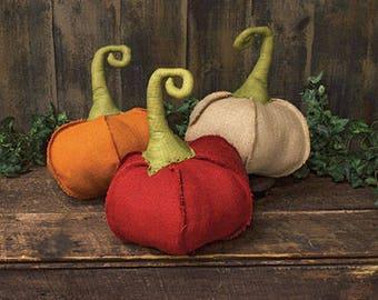 Handmade Burlap Pumpkins Decor for Fall Cute Fall Decor Rustic Decor Country Decor for Home