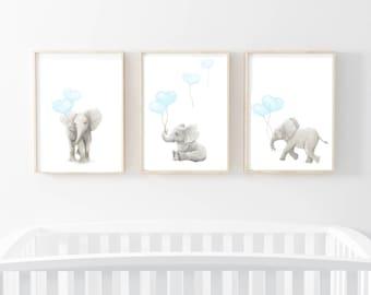 nursery art prints, nursery decor, elephant art, elephant art prints, nursery wall art, nursery art prints, elephants, elephant wall art,