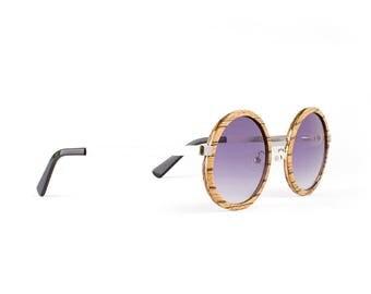 Wooden Sunglasses, Wood Frame Sunglasses, Zebra Wood, Fusion Sunglasses by WINKWOOD
