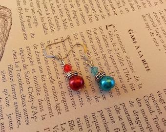 Geek - life and mana potion vials earrings