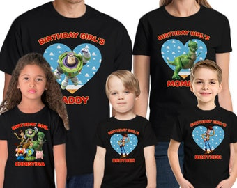 Toy Story Shirt Custom Name & Age Personalized Toy Story Birthday Shirt Birthday Personalized Birthday Family shirts