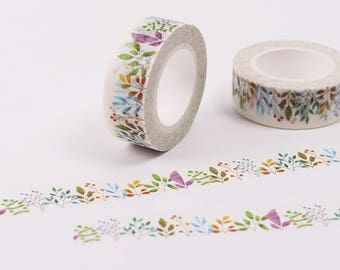 Masking tape floral 10m