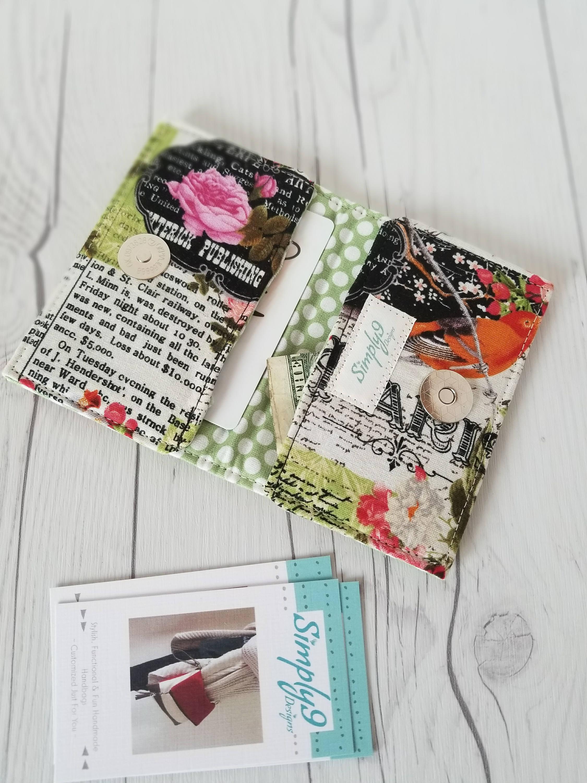 Paris Wallet Pink Green Wallet Small Wallet Small Women Wallet