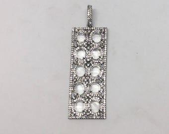 White topaz  sterling silver charm