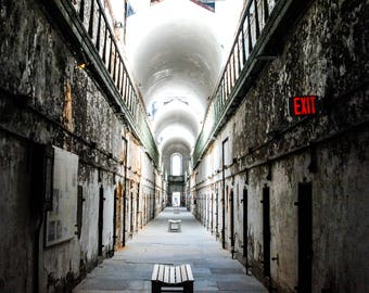 Abandoned Photography, Eastern State Penitentiary, Philadelphia Photography, Wall Art, Architecture photography, Fine Art Phtotgraphy