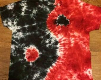 Large yin yang tie dye shirt