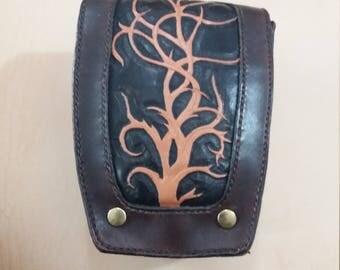 Leather bag; Leather bag