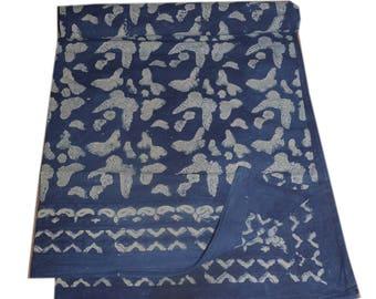 Handmade block print ajarak vegetable dye QUEEN size ajarak bedsheet 011