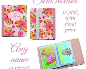 Personalised floral card holder
