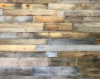 Reclaimed Pallet Wood 25 sq ft - Dismantled Pallet Boards - Reclaimed Wood Planks - Recycled Wood - Shiplap - Pallet Wall - Accent Wall