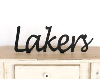 Lakers Sign / Lakers / Lakers Gift / Lakers Decor / Lakers Metal Sign / Sports Decor