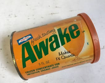 Vintage Awake Drink Concentrate Tin