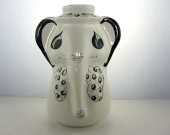 Italian huge piggy bank hand painted- 1970 / elephant / prosperity / kids / tirelire  / money box / chambre d'enfant / kids déco