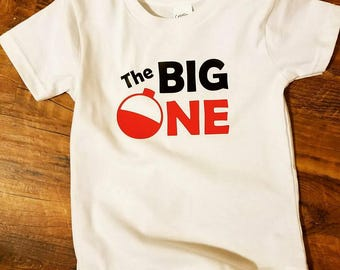 The Big One Fishing Shirt - First Birthday - Fish theme Birthday - Fish Birthday Party - Birthday Shirt - Ofishally One - Highchair Banner