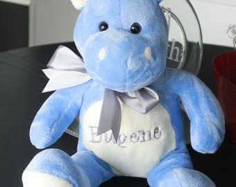 Personalized stuffed animal- Birth announcement -New baby plush animal-Custom baby gift-Baby Shower gift