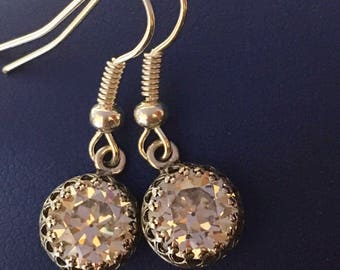 Cubic Zirconia Drop Earrings, Crystal Drop Earrings, Cubic Zirconia Jewelry, Cubic Zirconia Earrings, Cz Drop Earrings, Cz Dangle Earrings